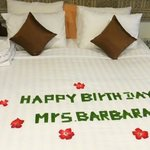 Birthday surprise from the beautiful housekeeping staff !