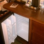Room Fridge and Coffee Maker