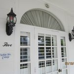 front entrance is southern charm and elegance