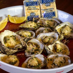 """Spike's Lemon"" - Steamed Flavored Oysters with Lemon Pepper and Parmesan."