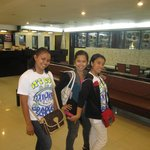 at the lobby hotel with my friends