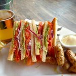 Club sandwich from lobby bar