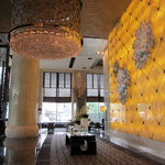 Front foyer - Note peony flowers on wall are made of Swarovski crystals