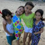 Kids on the beach after school