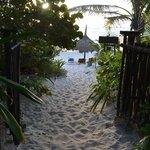 de la cabaña a la playa