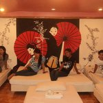 ..at japanese heya room...