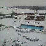 Pool Landschaft im Winter