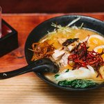 Spicy chicken ramen from our late night menu.