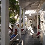 Front porch to the hotel