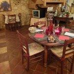 Table dressée salle des repas