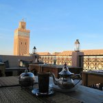 Min Tea at the Kasbah cafe rooftop