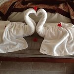 Wayan's towel sculptures