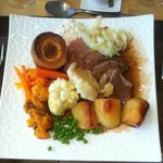 Sunday roast lunch - with beef & lamb