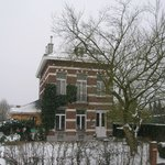 Huize Dumberg in volle winter
