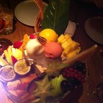 """""""Exotic"""" Fruit Plate"""" in a Bowl of Lots of Ice"""