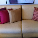 Couch in show apartment, notice the difference?
