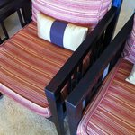 Chairs in show apartment...looking good!