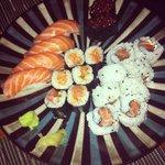 salmon mix sushi