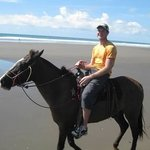 Gorgeous Costa Rican beach -- awesome horse ride