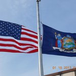 Flying The American Flag to Honor us, Marine Corps League.