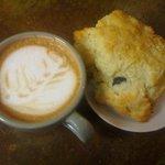 Organic espresso drinks & scones.