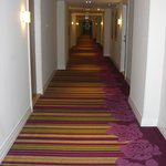 funky carpet in the corridor