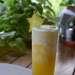 beautiful fresh squeezed tropical fruit juice