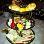 High Tea Selection - Dry Scones, Store bought sweets, below average sandwiches
