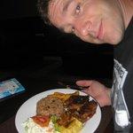 Jerk chicken dinner at Smokey's