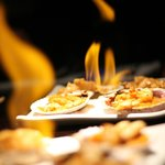 Mariscos al fuego