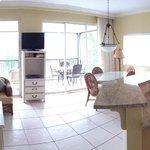 iphone panorama of the living room/porch/kitchen