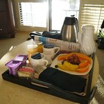 Breakfast served to your room (included)!