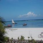 plage de Matemwe (vue de l'hôtel)