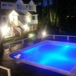 Iluminación en LED de la piscina.