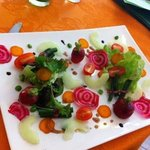 garden salad starter- made specially for my wife (vegetarian)