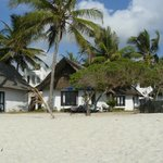 View of rooms from beach