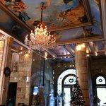 The gaudy lobby