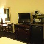 Room Amenities- TV, microwave,coffee maker, etc.