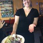 Serena and the Pork & Feta Salad :)
