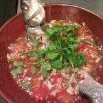 Thai lemon steam seabass