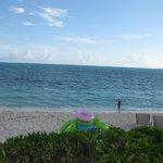 Quiet and calm beach area