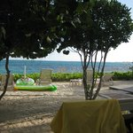 Beach view from patio