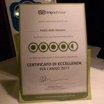 el certificado de tripadvisor