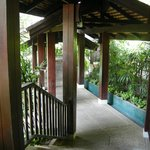 Walkway to the room