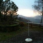 Blick aus dem Himmelbettzimmer ins Tal