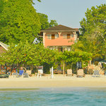 Firefly Beach Cottages from the Sea