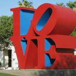 Love sculpture near the library