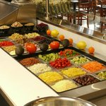 our salad bar, we create the salad for you.