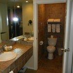 Clean bathroom; spacious