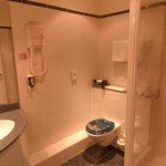 Clean but basic bathroom